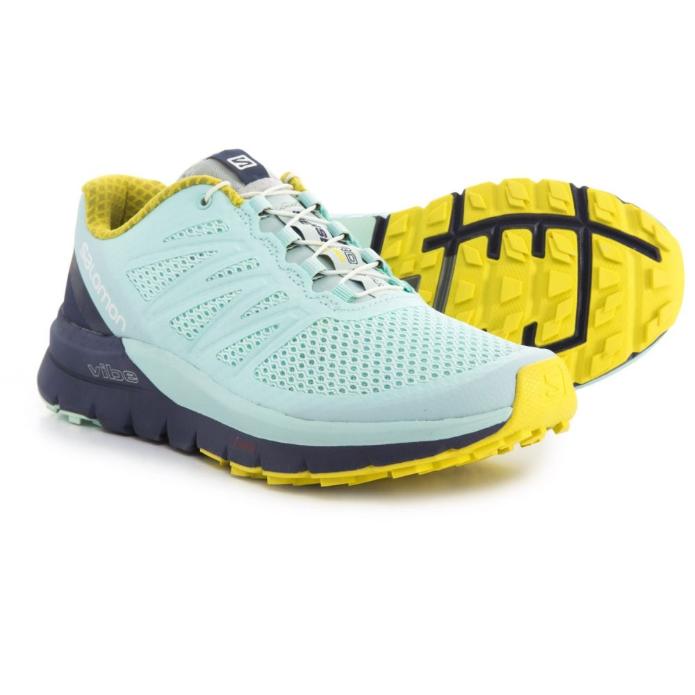 サロモン レディース ランニング・ウォーキング シューズ・靴【Sense Pro Max Trail Running Shoes】Fair Aqua/Crown Blue/Sulphur Spring