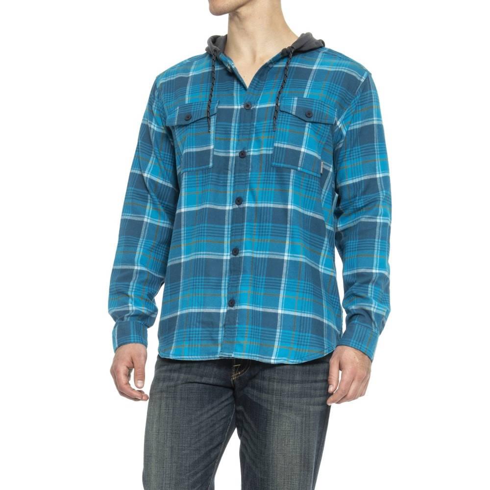 コロンビア Columbia Sportswear メンズ ハイキング・登山 トップス【Flaregun Flannel Hoodie】Phoenix Blue Multi