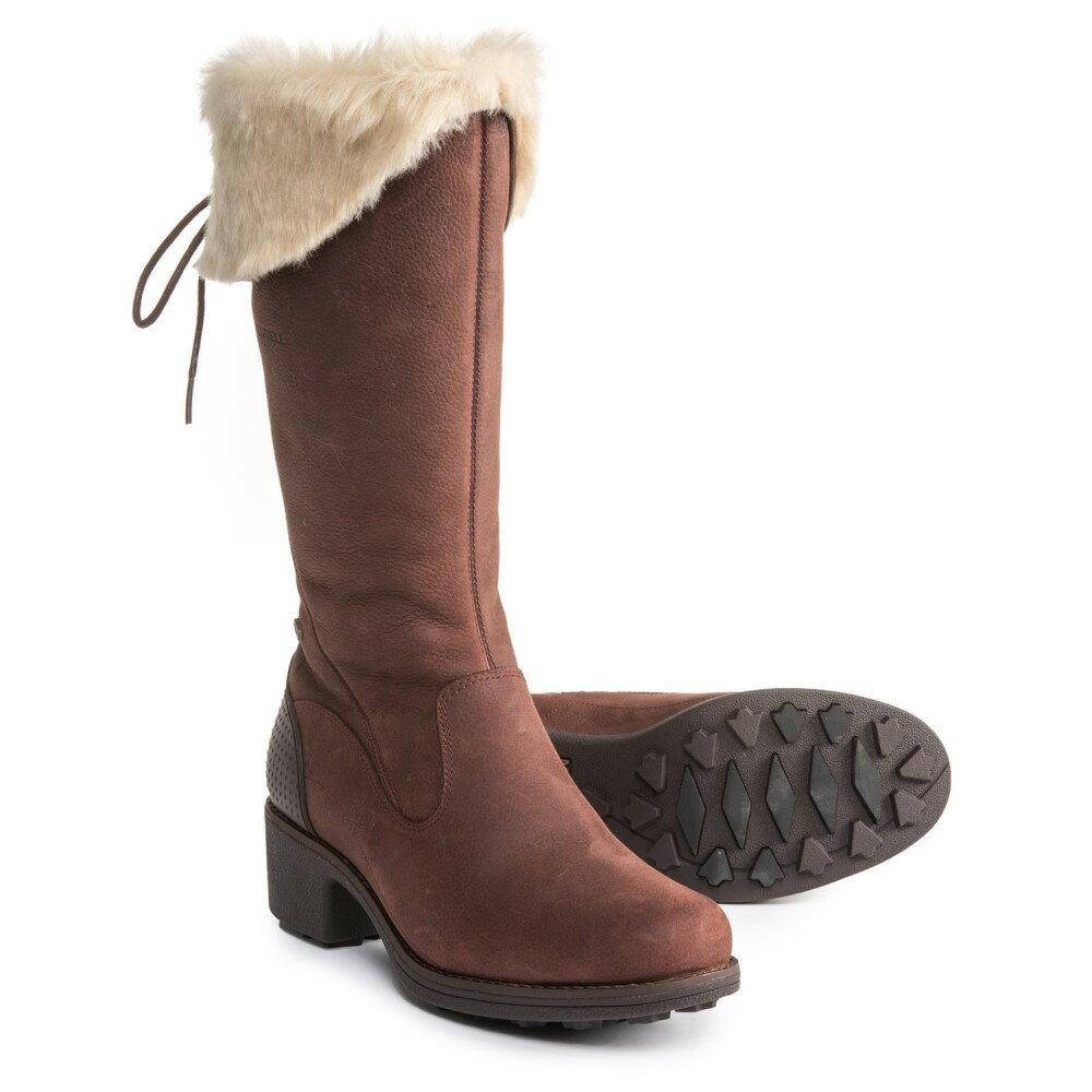メレル Merrell レディース シューズ・靴 ブーツ【Chateau Tall Zip Polar Boots - Waterproof, Insulated, Leather】Brunette