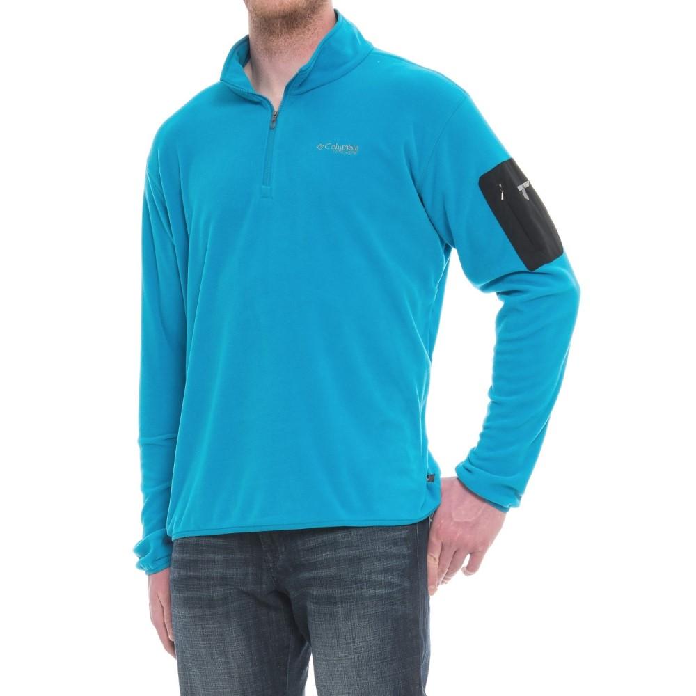 コロンビア Columbia Sportswear メンズ トップス フリース【Titanium Titan Pass 1.0 Polartec Fleece Jacket - Zip Neck】Dark Compass/Phoenix