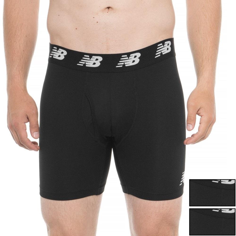 ニューバランス New Balance メンズ インナー・下着 ボクサーパンツ【Black Performance Boxer Briefs - 3-Pack】Black/Black/Black