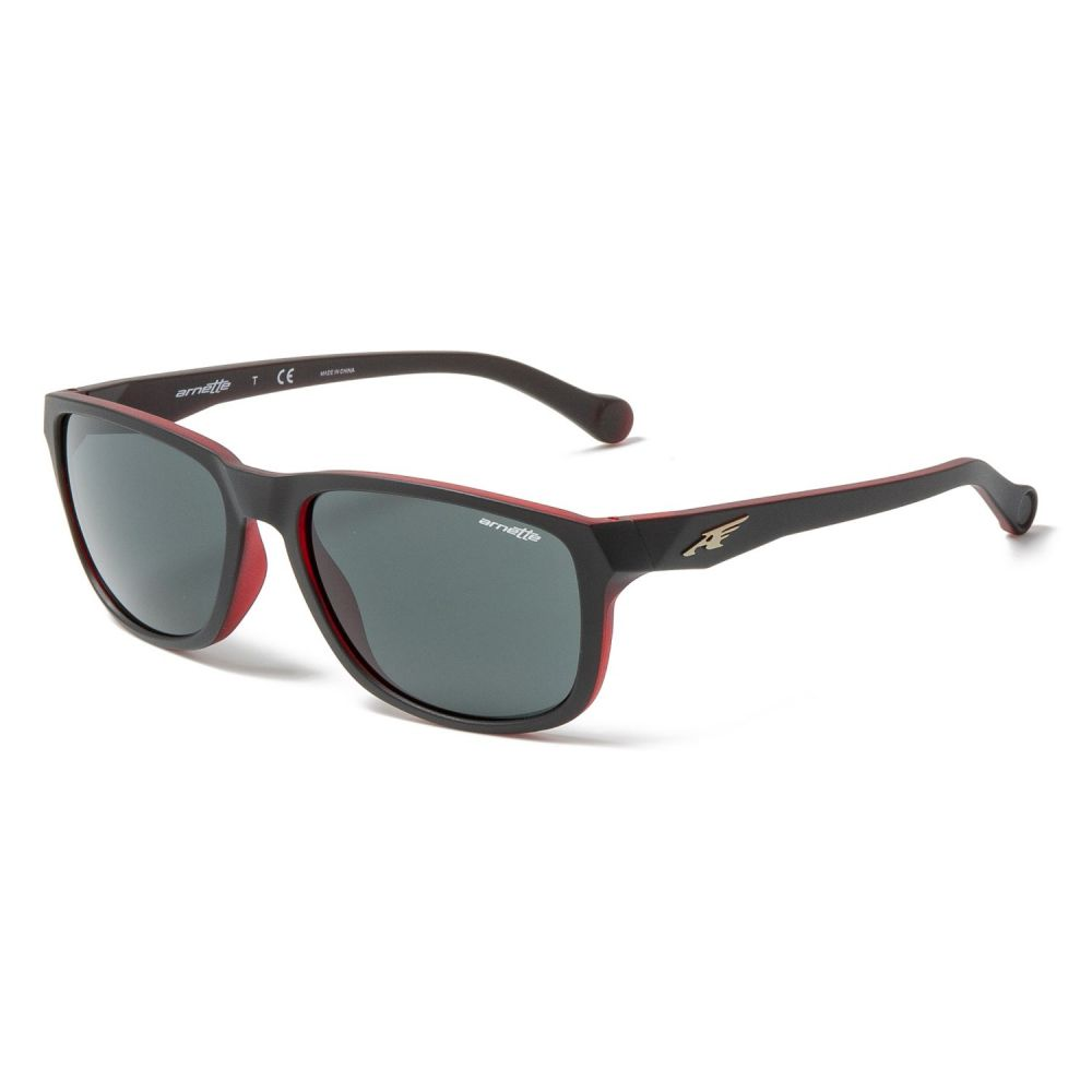 アーネット Arnette メンズ メガネ・サングラス【Straight Cut Sunglasses】Matte Black/Opal Red/Grey