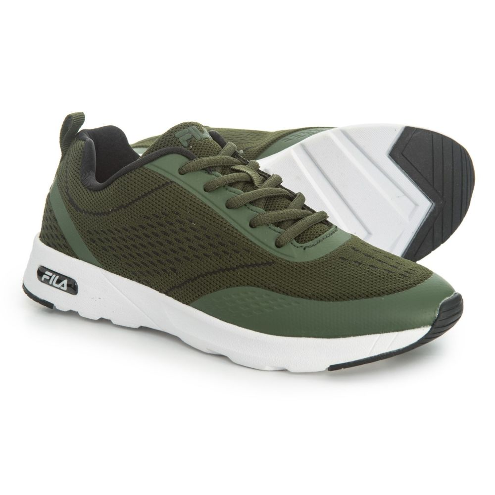 フィラ Fila レディース ランニング・ウォーキング シューズ・靴【Memory Chelsea Knit Running Shoes】Chive/Chive/White