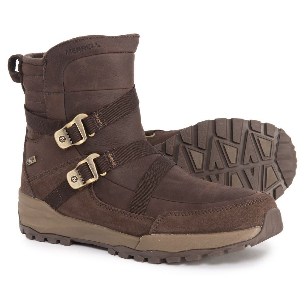 メレル Merrell レディース シューズ・靴 ブーツ【Icepack Mid Zip Polar Winter Boots - Waterproof, Insulated】Espresso