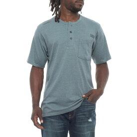 レッドキャップ Red Kap メンズ トップス Tシャツ【Double-Pocket Henley Shirt - Short Sleeve】Smokey Blue