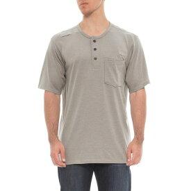 レッドキャップ Red Kap メンズ トップス Tシャツ【Double-Pocket Henley Shirt - Short Sleeve】Slate Grey