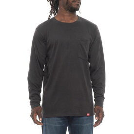 レッドキャップ Red Kap メンズ トップス 長袖Tシャツ【Double-Pocket T-Shirt - Long Sleeve】Coal Black