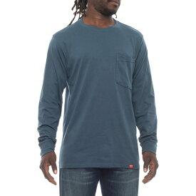 レッドキャップ Red Kap メンズ トップス 長袖Tシャツ【Double-Pocket T-Shirt - Long Sleeve】Enamel Blue