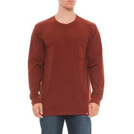 レッドキャップ Red Kap メンズ トップス 長袖Tシャツ【Double-Pocket T-Shirt - Long Sleeve】Brick Red