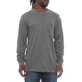 レッドキャップ Red Kap メンズ トップス 長袖Tシャツ【Double-Pocket T-Shirt - Long Sleeve】Steel Grey