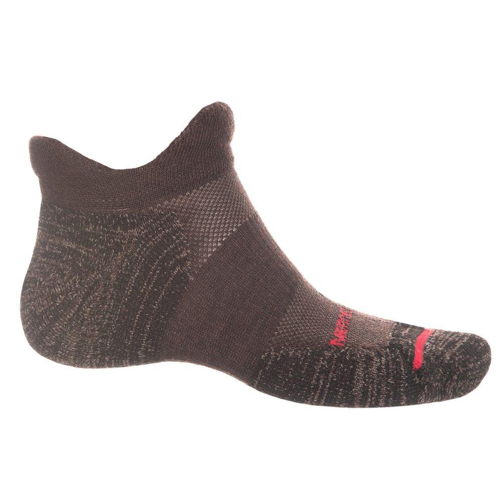 メレル Merrell メンズ ランニング・ウォーキング【Dual Tab Trail Running Socks - Merino Wool, Below the Ankle】Brown Heather