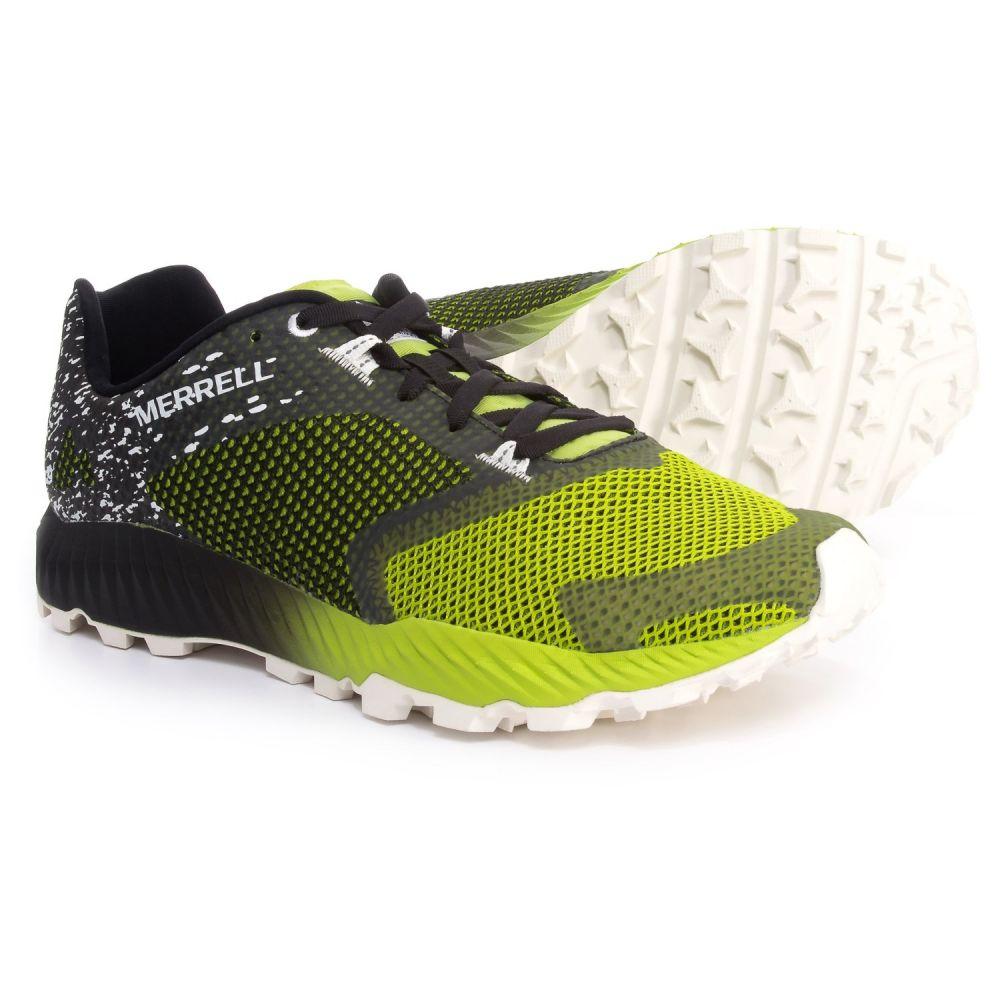 メレル Merrell メンズ ランニング・ウォーキング シューズ・靴【All Out Crush 2 Trail Running Shoes】Black/Speed Green