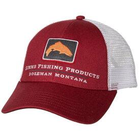 シムズ Simms ユニセックス 帽子 キャップ【Small Fit Trucker Hat】Rusty Red