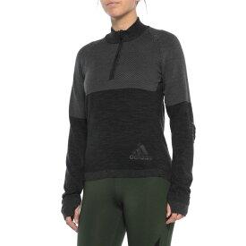 アディダス adidas レディース トップス ニット・セーター【ClimaHeat PrimeKnit Sweater - Zip Neck】Grey Three F17