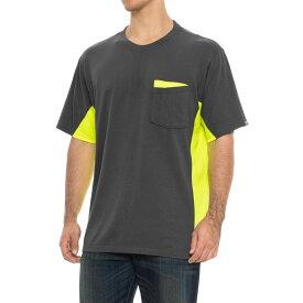 レッドキャップ Red Kap メンズ トップス Tシャツ【Color-Block Visibility Safety T-Shirt - Short Sleeve】Grey/Yellow