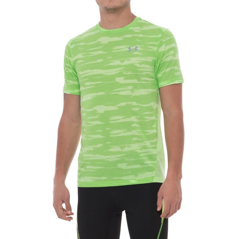 アンダーアーマー Under Armour メンズ ランニング・ウォーキング トップス【Threadborne Run Mesh Shirt - Short Sleeve】Quirky Lime