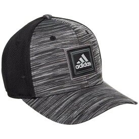 アディダス adidas メンズ 帽子 キャップ【Veterans Stretch Fit Baseball Cap】Black/Onix Space Dye
