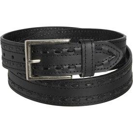 ジェムダンディ Gem Dandy メンズ ベルト【Danbury Genuine Tone Stitch Grooved Leather Belt】Black