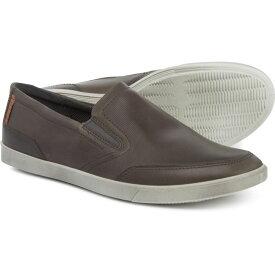 エコー ECCO メンズ シューズ・靴 スリッポン・フラット【Made in Portugal Collin Casual Shoes - Leather, Slip-Ons】Titanium