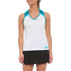 f43bc28492fc4 ニューバランス New Balance レディース トップス ポロシャツ【Montauk Polo Shirt - Sleeveless 】White/Blue