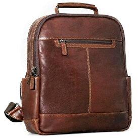 ジャックジョージス Jack Georges レディース バッグ バックパック・リュック【Voyager Collection Small Convertible Backpack-Crossbody Bag - Buffalo Leather】Brown