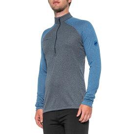 マムート Mammut メンズ トップス 長袖Tシャツ【Klamath Polartec Power Wool Base Layer Top - Zip Neck, Long Sleeve】Marine Melange-Ultramarine Melange