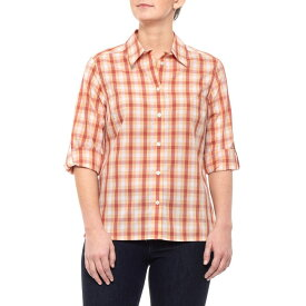 ペンドルトン Pendleton レディース トップス ブラウス・シャツ【Orange/Red Checkered Woven Shirt - 3/4 Sleeve】Orange/Red