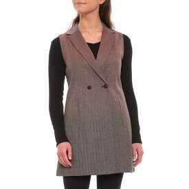 ペンドルトン Pendleton レディース トップス ベスト・ジレ【Light Berry-Grey Double-Breasted Herringbone Vest - Virgin Wool】Light Berry/Grey