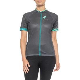 ルイガノ Louis Garneau レディース 自転車 トップス【Equipe GT Series Cycling Jersey - Short Sleeve】Asphalt/Green