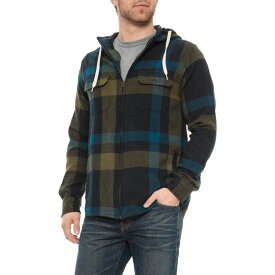 カブー Kavu メンズ シャツ フランネルシャツ トップス【Woodlands Hawthorne Hooded Flannel Shirt - Zip Front, Long Sleeve】Woodlands