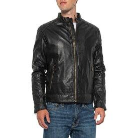 コールハーン Cole Haan メンズ レザージャケット ラム革 モーターサイクルジャケット アウター【Washed Lambskin Moto Jacket - Leather】Black