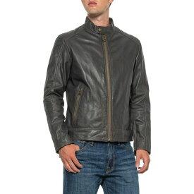 コールハーン Cole Haan メンズ レザージャケット ラム革 モーターサイクルジャケット アウター【Washed Lambskin Moto Jacket - Leather】Grey