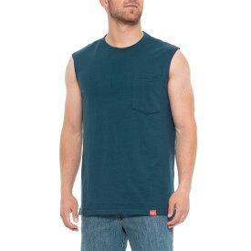 レッドキャップ Red Kap メンズ ノースリーブ トップス【Double-Pocket Muscle T-Shirt - Sleeveless】Enamel Blue