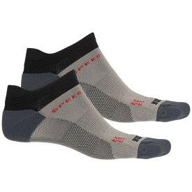 イノヴェイト Inov-8 ユニセックス ランニング・ウォーキング ソックス【Speed Low Running Socks - 2-Pack, Below the Ankle】Black