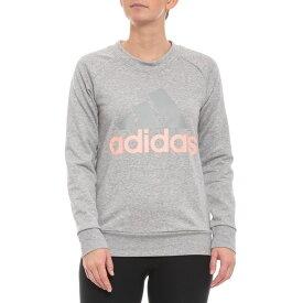 アディダス adidas レディース スウェット・トレーナー トップス【Essentials Linear Crew Sweatshirt】Grey