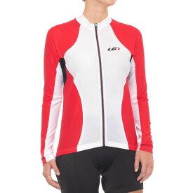 ルイガノ Louis Garneau レディース 自転車 トップス【Ventila Sl Cycling Jersey - UPF 50, Long Sleeve】White/Red/Black