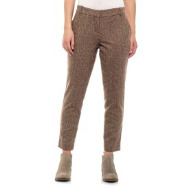 ペンドルトン Pendleton レディース ボトムス・パンツ 【Brown Herringbone Tweed Wool Blend Pants - Lined, Flat Front】Brown