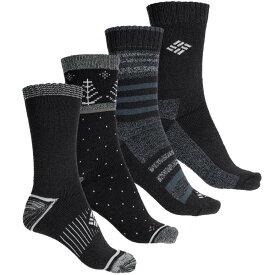 コロンビア Columbia Sportswear レディース ソックス インナー・下着【Moisture-Control Polka-Dot Socks - 4-Pack, Crew】Black