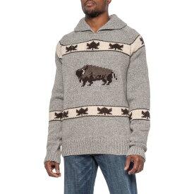 ショット ニューヨーク Schott NYC メンズ ニット・セーター トップス【Cowichan-Style Pullover Sweater - Wool Blend】Heather Grey