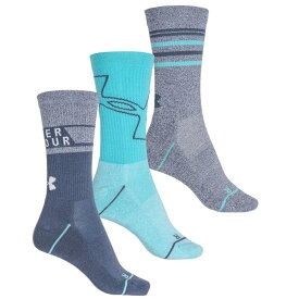 アンダーアーマー Under Armour レディース ソックス インナー・下着【Phenom High-Performance Socks - 3-Pack, Crew】Utility Blue/Asst