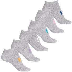 アンダーアーマー Under Armour レディース ソックス インナー・下着【No-Show Liner Socks - 6-Pack, Below the Ankle】True Gray Heather/Asst