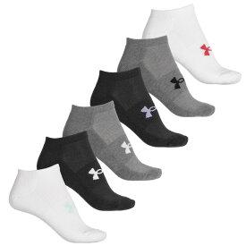 アンダーアーマー Under Armour レディース ソックス インナー・下着【Essential Cushion Liner No-Show Socks - 6-Pack, Below the Ankle】Heather Gray/Asst