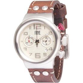 フライ Frye メンズ 腕時計 【Round Hydraulic Dial Watch - Leather Strap】Cream/Saddle