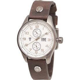 フライ Frye メンズ 腕時計 【Round Aged Watch - Leather Strap】White/Slate