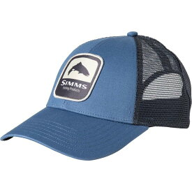 シムズ Simms メンズ キャップ トラッカーハット 帽子【Trout Patch Trucker Hat】Blue Stream