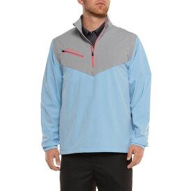 コロンビア Columbia Sportswear メンズ ゴルフ ジャケット アウター【Wicked Shot Golf Jacket - UPF 30, Zip Neck】Light Blue