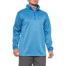 コロンビア Columbia Sportswear メンズ トップス 【Inwood Hill Park EXS Shirt - Zip Neck, Long Sleeve】Azure Blue