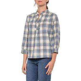 ペンドルトン Pendleton レディース ブラウス・シャツ トップス【Ivory-Blue Check Prescott Plaid Popover Shirt - Virgin Wool, Long Sleeve】Ivory/Blue Check