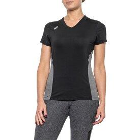 アシックス ASICS レディース Tシャツ トップス【Black and Heather Grey Decoy Jersey T-Shirt - Short Sleeve】Black/Heather Grey