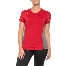 アシックス ASICS レディース Tシャツ トップス【Red and Heather Grey Decoy Jersey T-Shirt - Short Sleeve】Red/Heather Grey